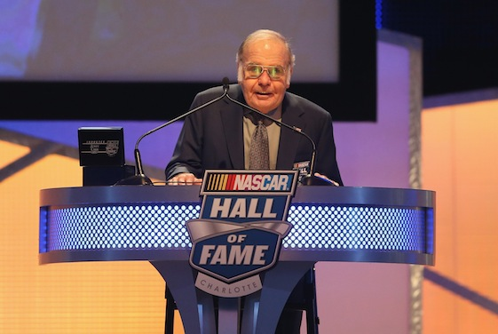 Jerry Cook was welcomed into the NASCAR Hall of Fame during the NASCAR Hall of Fame induction ceremony on Saturday. (Photo by Streeter Lecka/NASCAR via Getty Images)