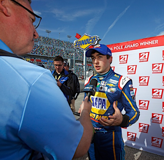 Chase Elliott on pole for the Showdown. (RacinToday/HHP file photo by Alan Marler)