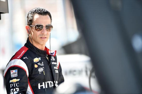 Helio Castroneves led the pack in Phoenix on Friday.