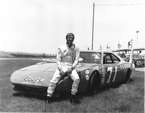 Bobby Isaac poses with Nord Krauskoph's Dodge Charger Daytona at Daytona International Speedway. Isaac was inducted into the NASCAR Hall of Fame in January. (Photo by ISC Images and Archives via Getty Images)