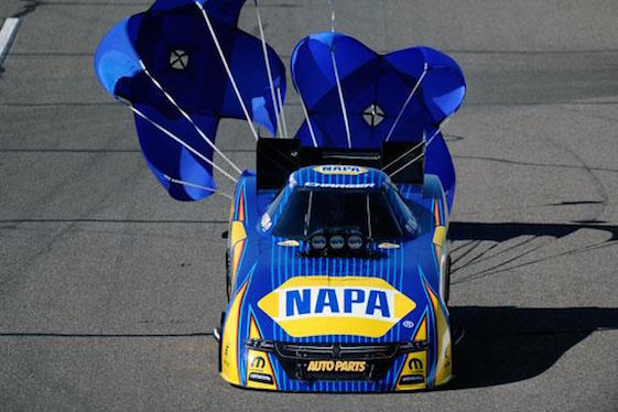 Ron Capps captured the Funny Car pole for Sunday's NHRA race in Arizona.