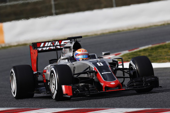 The new Haas F1 Team car took historic first laps during a test session in Spain. (Alastair Staley/LAT Photographic)