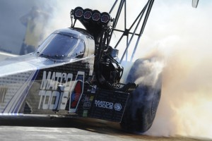 Antron Brown will start Sunday's eliminations in New England from P1 in Top Fuel.