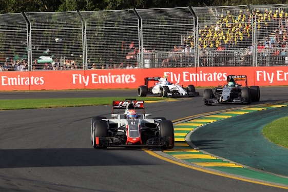 Romain Grosjean drove America's Haas F1 Team to a stunning sixth-place finish in the Australian Grand Prix.