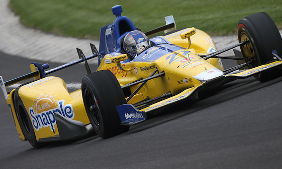 Marco Andretti posted the fastest time during testing at Indianapolis this week.