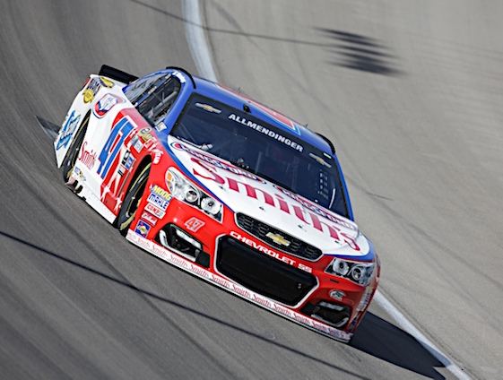 A.J. Allmendinger showed the speed and skill to run with the big boys Sunday at Martinsville. (RacinToday/HHP photo by Harold Hinson)