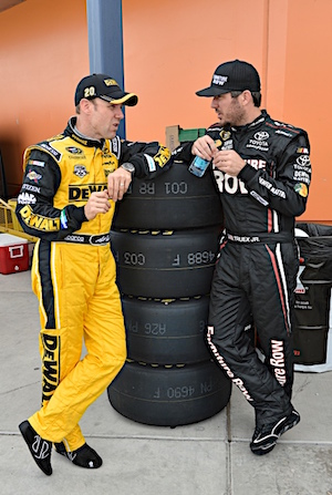 Martin Truex Jr. and his Furniture Row Racing team can now tap into the experience and knowledge of Joe Gibbs Racing drivers like Matt Kenseth. (RacinToday/HHP file photo by Rusty Jarrett)