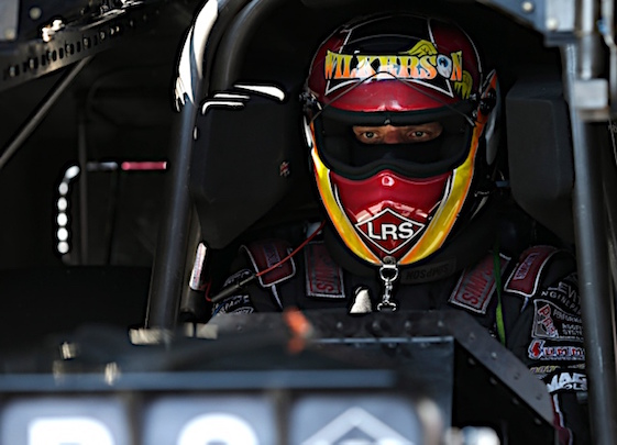 Tim Wilkerson is on the Funny Car pole in Baytown. (RacinToday/HHP file photo by Garry Eller)