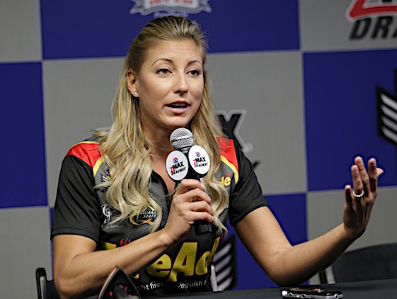Leah Pritchett will drive a Don Schumacher dragster. (RacinToday/HHP file photo by Harold Hinson)