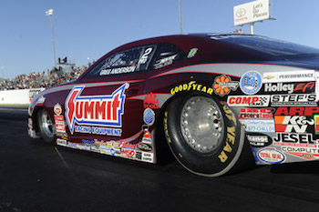 Greg Anderson was up to the K&N Horsepower Challenge on Saturday in Las Vegas.