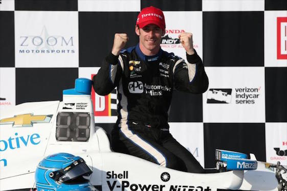 Simon Pagenaud led practice in Canada.