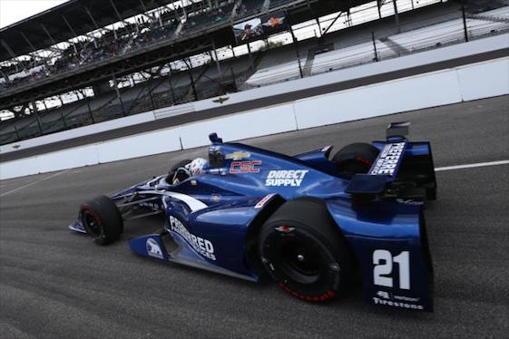 Josef Newgarden shook the lonesome Pole Day blues to post the fastest lap on Monday at Indy. (Photo courtesy of INDYCAR)