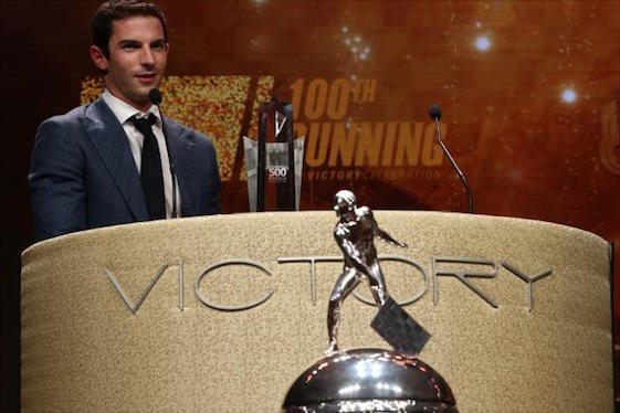 Alexander Rossi was the man of the hour at Monday night's Indianapolis 500 banquet. (Photo courtesy of INDYCAR)