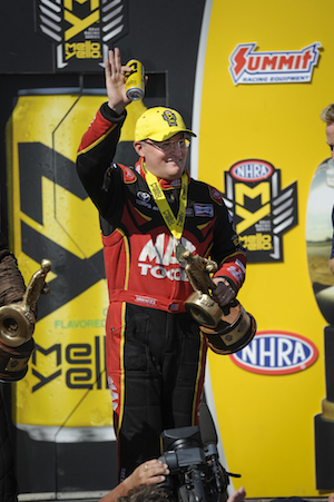 Doug Kalitta has collected two Wallys in the last two events. (Photo courtesy of the NHRA)