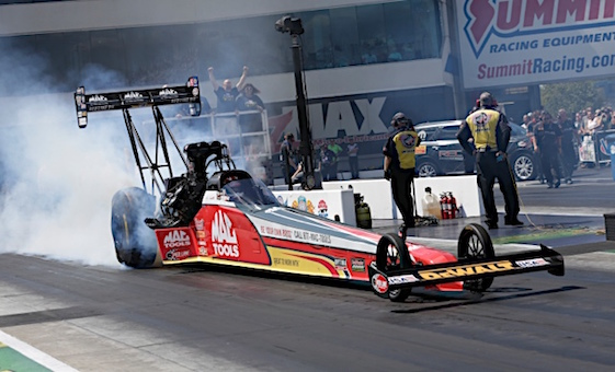 Doug Kalitta continued his winning ways on Sunday. (RacinToday/HHP file photo by Harold Hinson)
