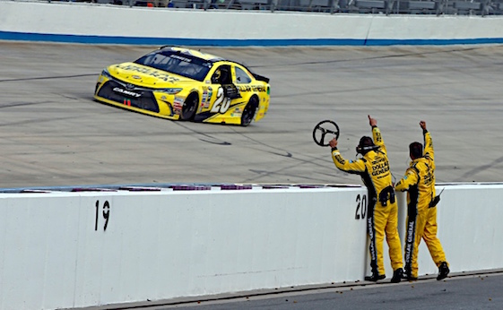 Matt Kenseth became the fourth Joe Gibbs Racing driver to win a race and enter the Chase on Sunday when he won at Dover. (RacinToday/HHP photo by Alan Marler)