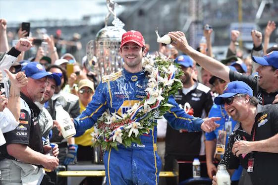 American Alexander Rossi will have his image added to the Borg Warner Trophy as winner of the 100th running of the Indianapolis 500. (Photos courtesy of INDYCAR)
