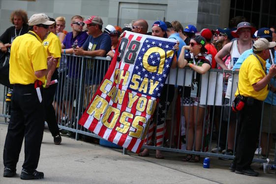 Fans in Indy welcomed California kid Alexander Rossi home from Europe. (Photo courtesy of INDYCAR)