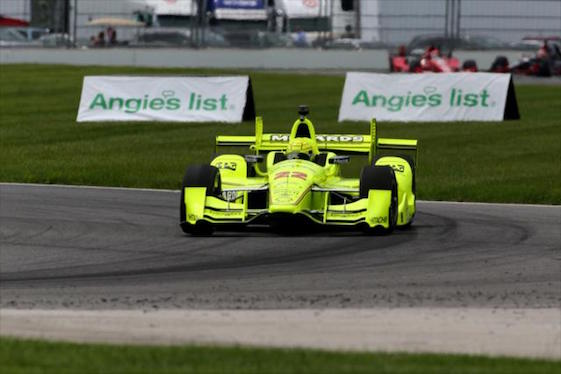 Simon Pagenuad made it three straight victories on Saturday. (Photos courtesy of INDYCAR)
