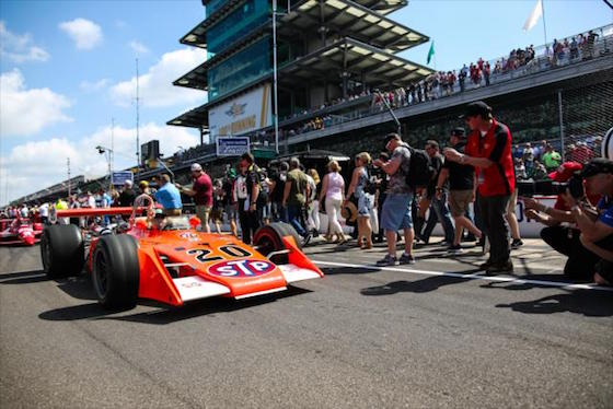 Indy has played host to some very memorable cars. (Photo courtesy of INDYCAR)