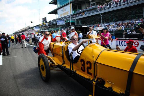 Al Unser Sr. and the car that won the very first 500. (Photo courtesy of INDYCAR)