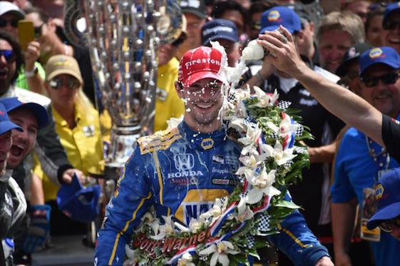 Alexander Rossi stunned the racing world on Sunday.