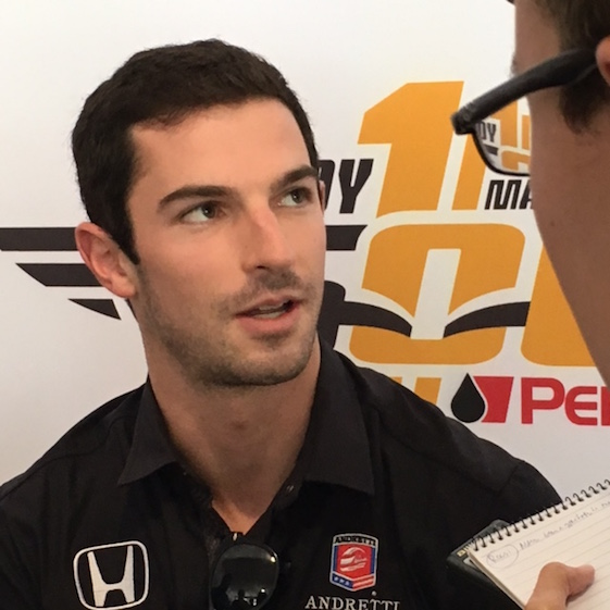 American driver Alexander Rossi won the 2016 Indy 500 on Sunday. (RacinToday photo by Martha Fairris)