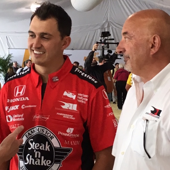 Bobby Rahal hopes that his son Graham can do what he did 30 years ago at Indy. (RacinToday photo by Martha Fairris)