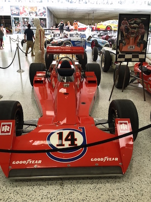 "A.J. Foyt drove the ""Poppy Red"" No. 14 Gilmore Racing Team Coyote/Foyt to his record fourth victory in 1977.(RacinToday photo by Martha Fairris)"