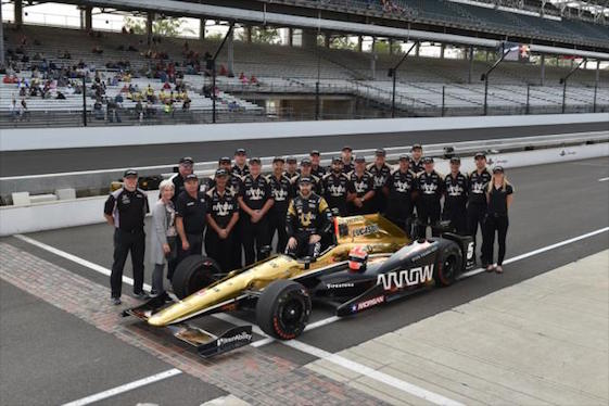 Driver James Hinchcliffe and his Schmidt Peterson Motorsports team were king of the bricks on Saturday. On Sunday, they go for the pole in Indianapolis. (Photo courtesy of INDYCAR)