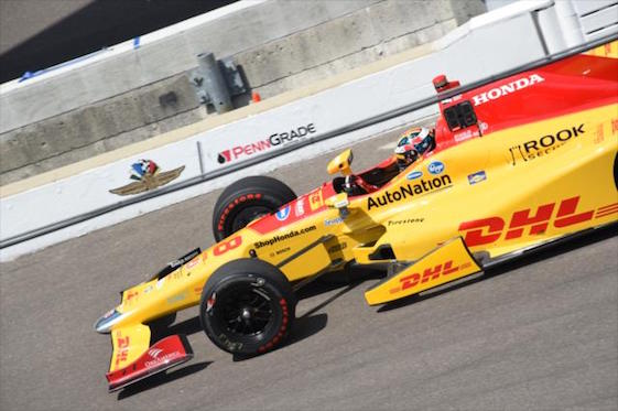 Ryan Hunter-Reay was fast on Thursday but said wait until Friday at Indianapolis Motor Speedway.