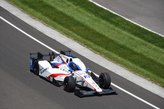 Gabriel Chaves started the month of May looking for a ride. On Thursday, he laid down the fastest lap in practice for the Indianapolis 500. (Photo courtesy of INDYCAR)