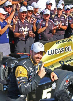 Schmidt Peterson driver James Hinchcliffe will start P1 in the 2016 Indy 500.