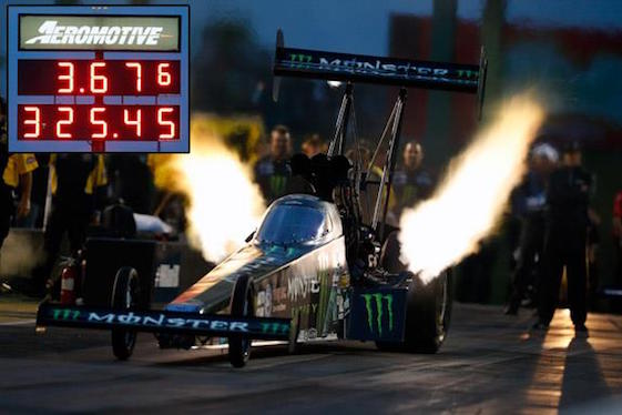 Brittany Force laid down a record Top Fuel run in Topeka on Friday night.