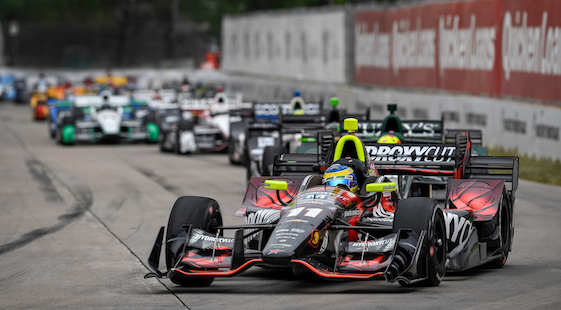 Sebastien Bourdais, driver of the No. 11 KVSH Racing Chevrolet, got the win on Belle Isle on Saturday. (Photo by Scott R. LePage/LAT for Chevy Racing)