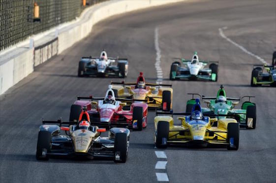 Big time open wheel racing is returning to the St. Louis area in 2017. (File photo courtesy of INDYCAR)