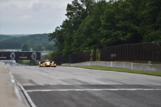 The start/finish straight is one of several long, high-speed stretches at the 4-mile Road America road course.