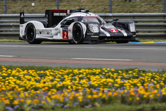 The No. 2 Porsche 919 won Le Mans Sunday when the race-dominating Toyota slowed to a stop in the final minutes of the 24-hour race.