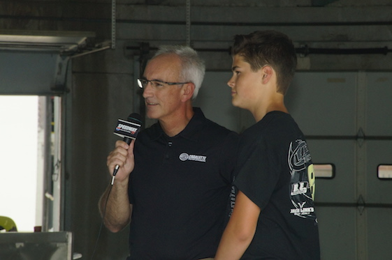 Former NASCAR champion David Green and son Austin.