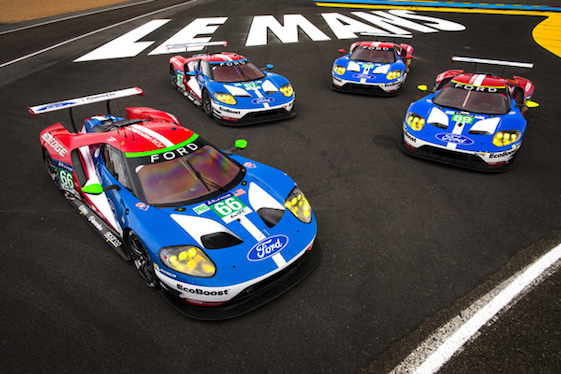 Ford GTs took Le Mans by storm last month. Some say that was because of a late BoP ruling. (Ford photo by Drew Gibson)
