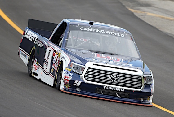 William Byron beat back several late-race challenges and went on to win at Kentucky Speedway on Thursday night. (RacinToday/HHP photo by Tim Parks)