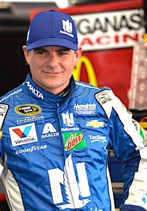 Jeff Gordon had a hot time in Indy last week. A cooler time in Pocono would be welcome. (RacinToday/HHP photo by Rusty Jarrett )