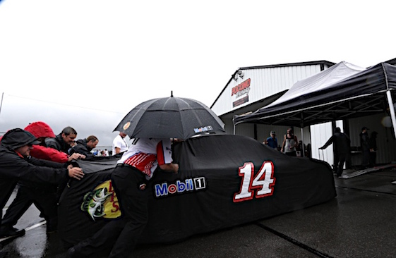 Rain forced postponement of the Sprint Cup Series race at Pocono Raceway on Sunday. (RacinToday/HHP photo by Garry Eller)