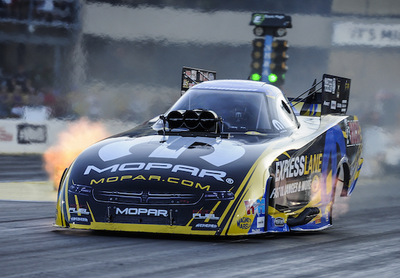 Matt Hagan will start Sunday's Funny Car eliminations from the pole position.