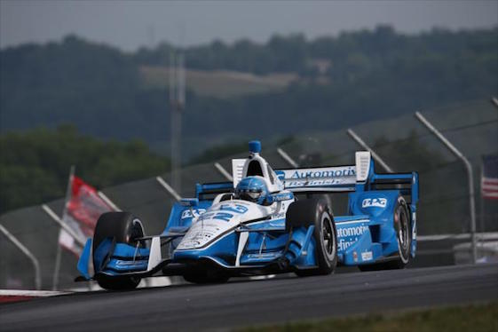 Simon Pagenaud beat Team Penske teammate Will Power at Mid-Ohio on Sunday. (Photo courtesy of INDYCAR)