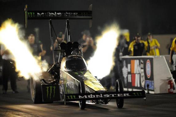Brittany Force is on the provisional pole at Route 66 Dragway in Joliet, Ill. (Photo courtesy of the NHRA)