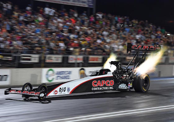 Steve Torrence won the Top Fuel pole at Bandimere Speedway on Saturday.