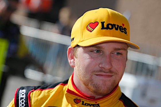 Bad fog meant good news for Chris Buescher as the Sprint Cup rookie won Monday's rain-delayed race at Pocono Raceway. (RacinToday/HHP file photo by Gregg Ellman)