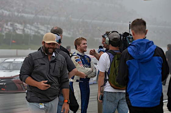 Chris Buescher says he hasn't the foggiest idea how his Pocono victory played down in his Texas hometown. (RacinToday/HHP photo by Rusty Jarrett )