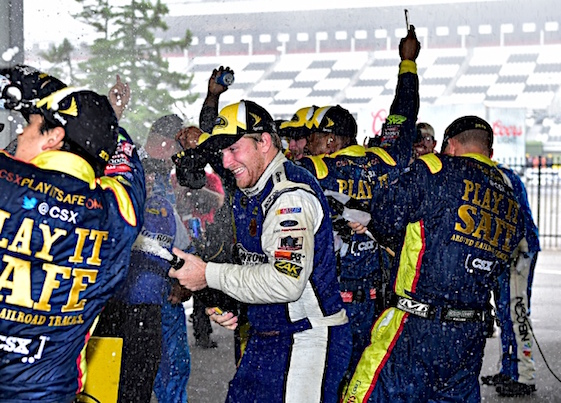 Sprint Cup Chris Buescher's post-Pocono party is over. Attention has turn to driver points and making the Chase. (RacinToday/HHP photo by Rusty Jarrett)